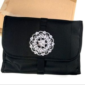 BNIB Black Jewelry Storage Clutch